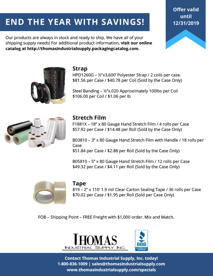 Q4 Special at Thomas Industrial Supply